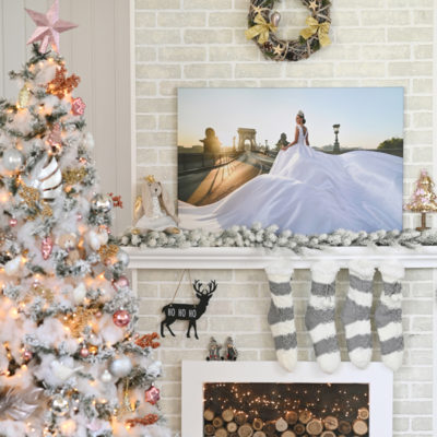 karácsonyi vászonkép
